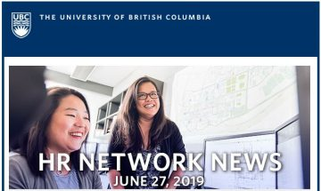 UBC HR Network News (June 27, 2019)