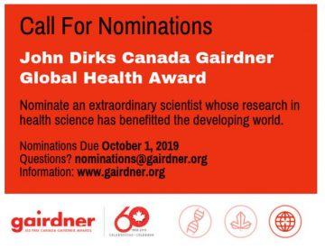 2020 Canada Gairdner Global Health Award Nomination
