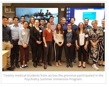 A Big Thank You to the Faculty and Residents Who Contributed to Another Successful Psychiatry Summer Immersion Program!
