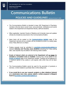 Updated Communications Bulletin Policies and Guidelines