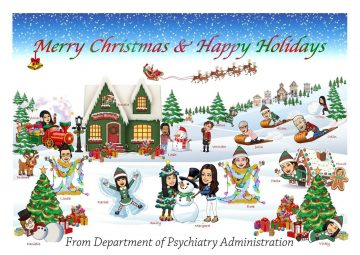 Happy Holidays from the Psychiatry Administration Staff!