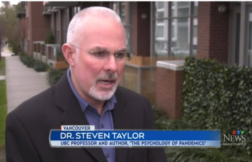 Dr. Steven Taylor Interviewed by CTV, CBC, Huffington Post and National Post For His Expert Take on Reactions to 2019-nCoV in Canada and Abroad