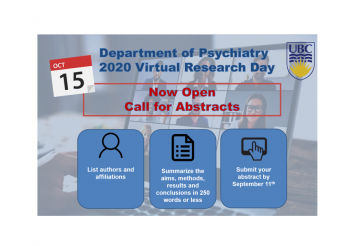 CALL FOR ABSTRACTS for 2020 UBC Psychiatry Virtual Research Day