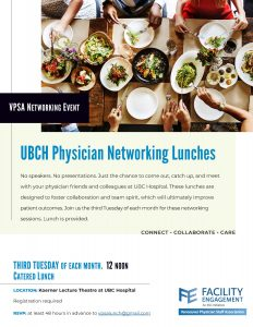 The Next Physician Appreciation Networking Lunch is on Tuesday September 22, 12-1pm!
