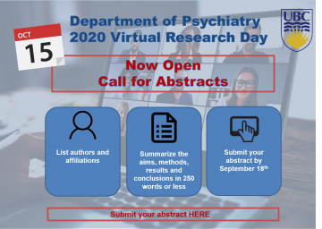 UPDATE: Deadline for Abstracts Has Been EXTENDED to Friday September 18, 2020