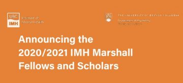 Announcing the 2020/2021 IMH Marshall Scholars and Fellows