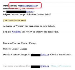 Fraudulent Phishing Email – DO NOT OPEN LINKS