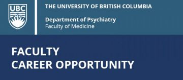 FACULTY CAREER OPPORTUNITY: Tier 2 Canada Research Chair in Early Intervention in Psychosis/Bipolar Disorder