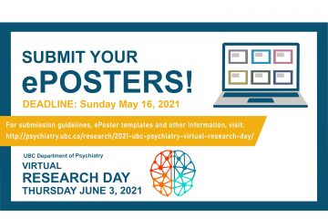 Submit Your ePoster for the 2021 Psychiatry Research Day Virtual Poster Gallery by May 16th!
