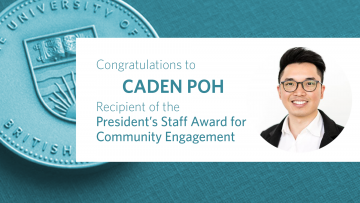 Congratulations to Mr. Caden Poh, Recipient of the President's Staff Award for Community Engagement!